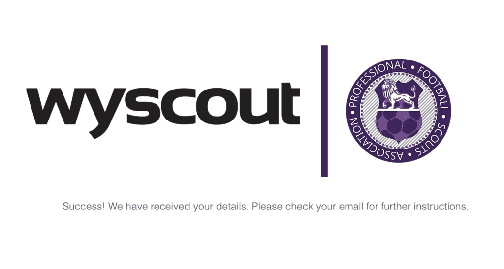 The PFSA are please to be partners with Wyscout