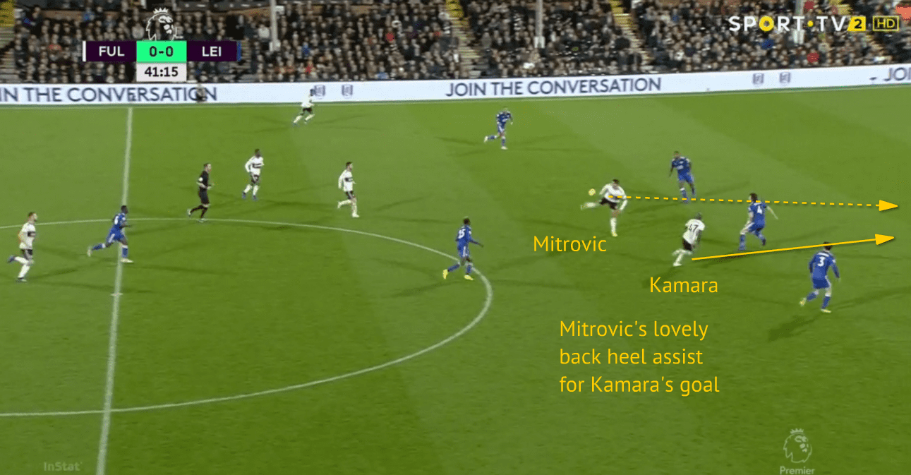 Mitrovic's superb assist for Kamara vs. Leicester