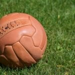 An old fashioned football