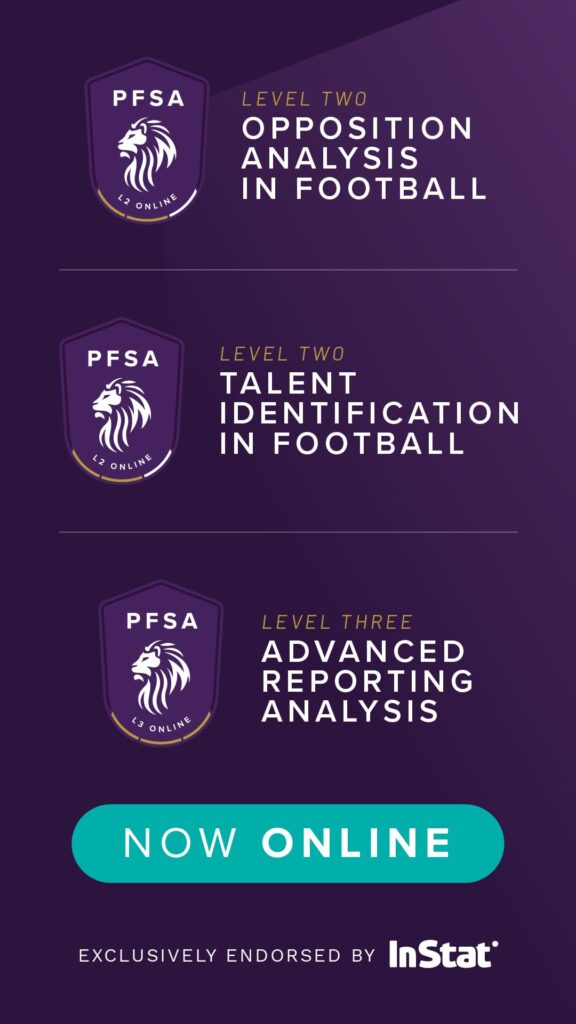Level 2 Opposition Analysis In Football and Level 2 Talent Identification In Football are now online