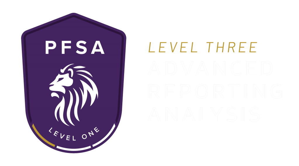 PFSA Level 3 Advanced Reporting