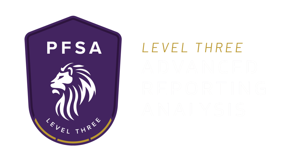 PFSA Level 3 Advanced Reporting