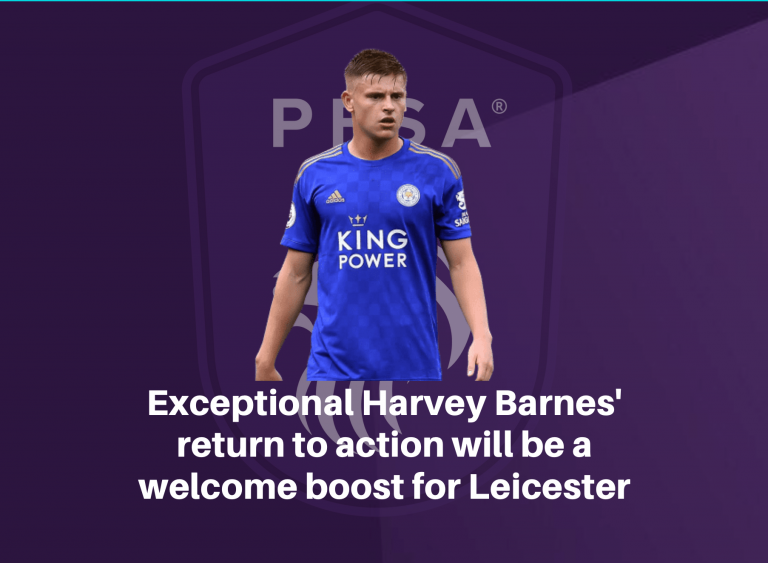 Exceptional Harvey Barnes' return to action will be a welcome boost for Leicester